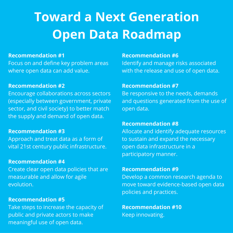 Toward a Next Generation Open Data Roadmap