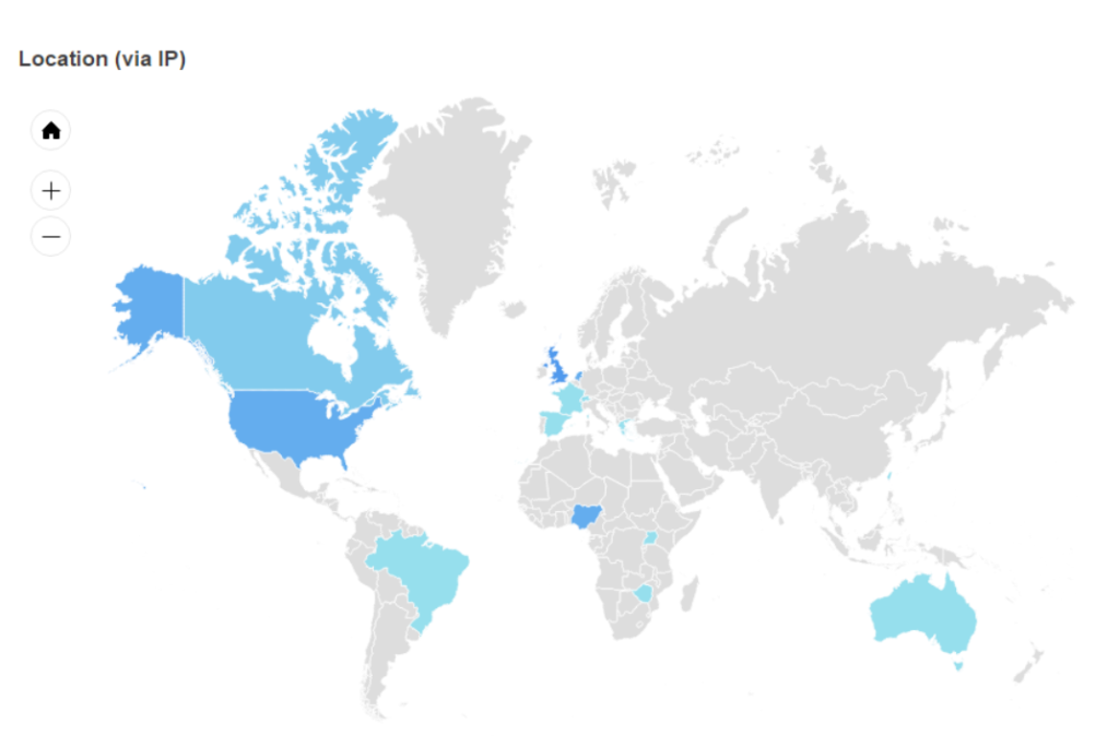 Geographic distribution of respondents.